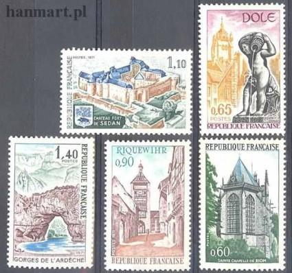 Znaczek Francja 1971 Mi 1756-1760 Czyste **