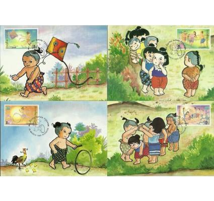 Znaczek Tajlandia 1999 Mi 1936-1939 Karta Max