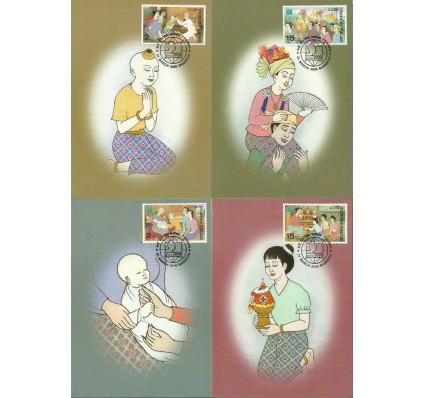 Znaczek Tajlandia 2000 Mi 2004-2007 Karta Max