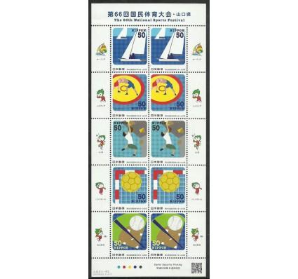 Znaczek Japonia 2011 Mi ark 5789-5793 Czyste **