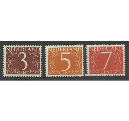 Znaczek Holandia 1953 Mi 612-614YXA Czyste **