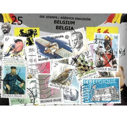 Znaczek Pakiet filatelistyczny BELGIA 25 znaczków