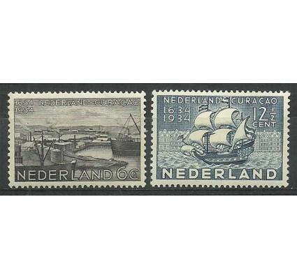 Znaczek Holandia 1934 Mi 274-275 Z podlepką *