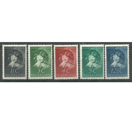 Znaczek Holandia 1937 Mi 308-312 Z podlepką *