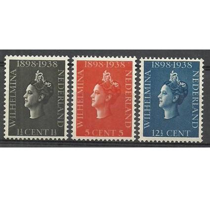 Znaczek Holandia 1938 Mi 318-320 Z podlepką *
