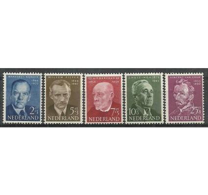 Znaczek Holandia 1954 Mi 636-640 Z podlepką *
