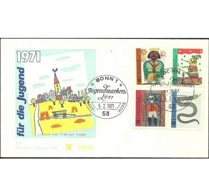 Znaczek Niemcy 1971 Mi 660-663 FDC