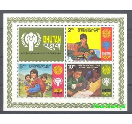 Bhutan 1979 Mi bl 83 Czyste **