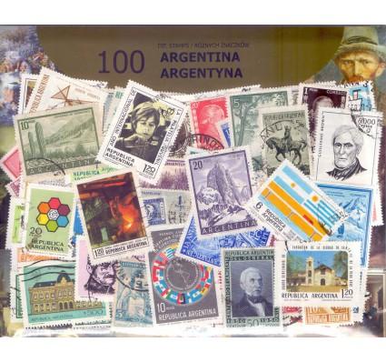 Znaczek Pakiet filatelistyczny ARGENTYNA 100 znaczków