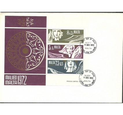 Znaczek Malta 1972 Mi bl2 FDC