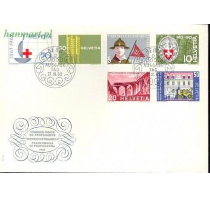 Znaczek Szwajcaria 1963 Mi 768-773 FDC