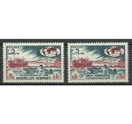 Znaczek Nowe Hebrydy 1966 Mi 236+240 Czyste **