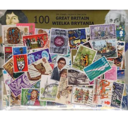 Znaczek Pakiet filatelistyczny WIELKA BRYTANIA 100 znaczków