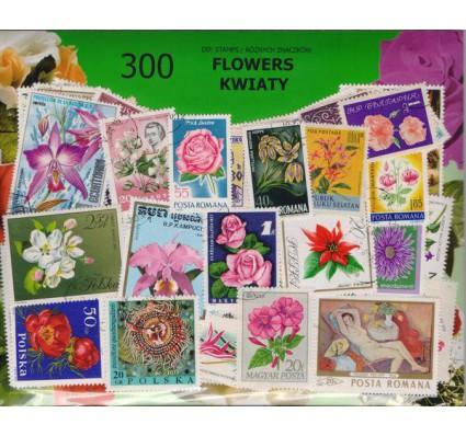 Znaczek Pakiet filatelistyczny KWIATY 300 znaczków
