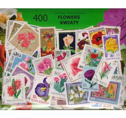 Znaczek Pakiet filatelistyczny KWIATY 400 znaczków