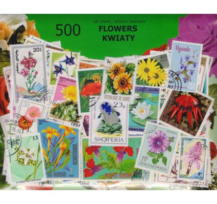 Znaczek Pakiet filatelistyczny KWIATY 500 znaczków