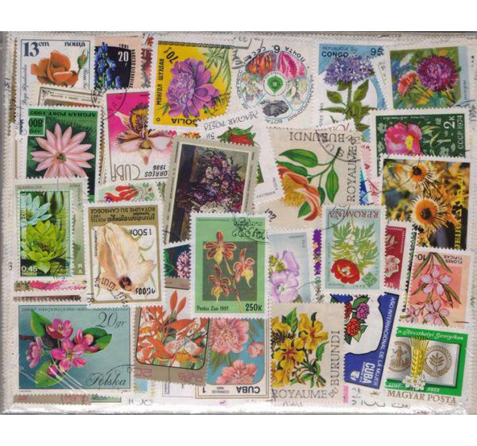 Pakiet filatelistyczny KWIATY 500 znaczków