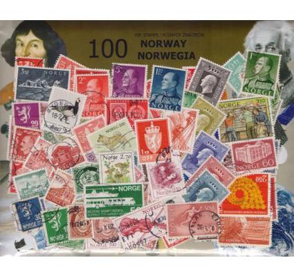Znaczek Pakiet filatelistyczny NORWEGIA 100 znaczków
