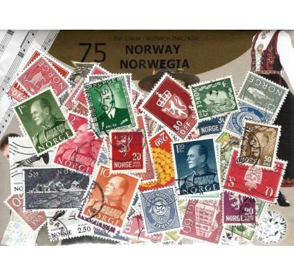Znaczek Pakiet filatelistyczny NORWEGIA 75 znaczków