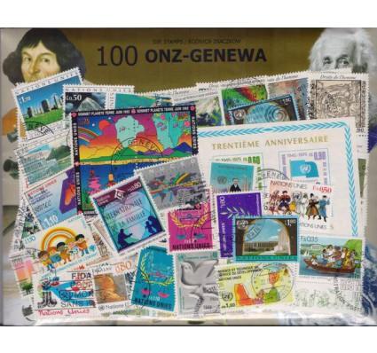 Znaczek Pakiet filatelistyczny ONZ-GENEWA 100 znaczków