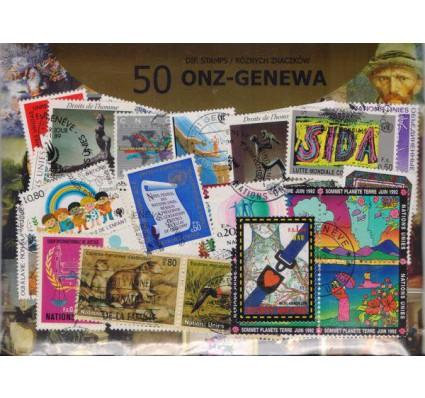 Znaczek Pakiet filatelistyczny ONZ-GENEWA 50 znaczków
