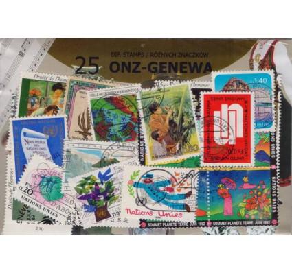 Znaczek Pakiet filatelistyczny ONZ-GENEWA 25 znaczków