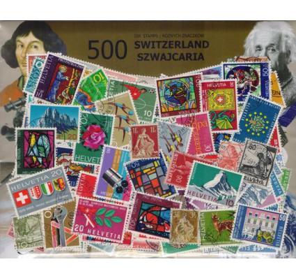 Znaczek Pakiet filatelistyczny SZWAJCARIA 500 znaczków