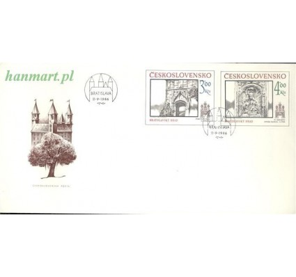 Znaczek Czechosłowacja 1986 Mi 2873-2874 FDC