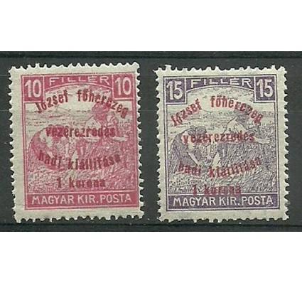 Znaczek Węgry 1917 Mi 208-209 Czyste **