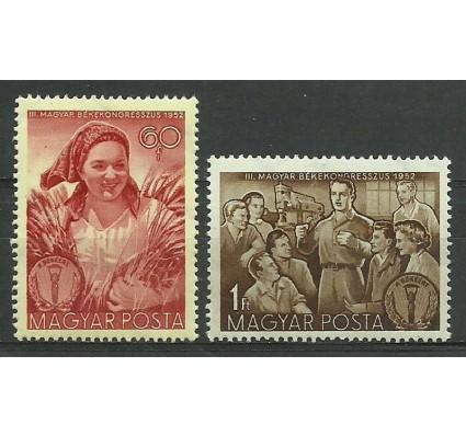 Znaczek Węgry 1952 Mi 1279-1280 Czyste **