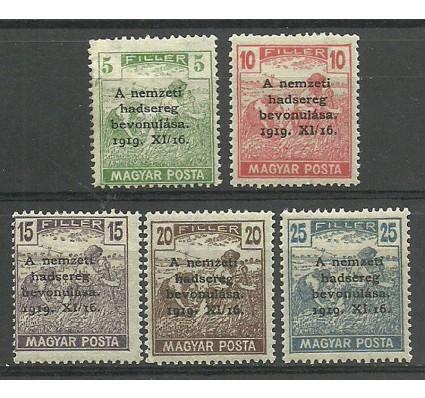 Znaczek Węgry 1919 Mi 286-290 Z podlepką *