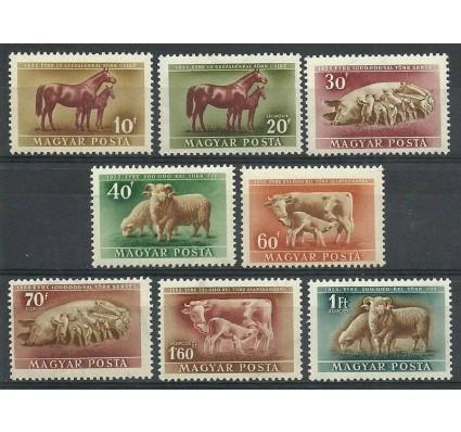 Znaczek Węgry 1951 Mi 1150-1157 Z podlepką *