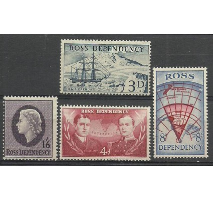 Ross Dependency 1957 Mi 1-4 Czyste **
