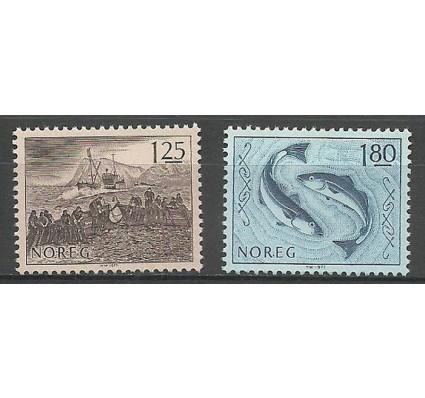 Znaczek Norwegia 1977 Mi 751-752 Czyste **