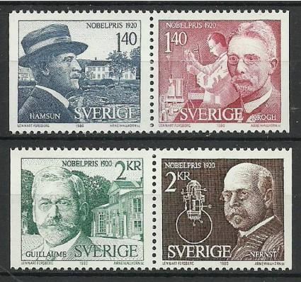 Znaczek Szwecja 1980 Mi 1129-1132 Czyste **