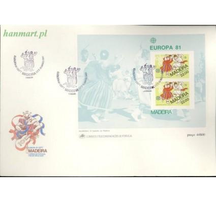 Znaczek Madera 1981 Mi bl 2 FDC