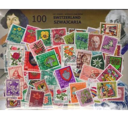 Pakiet filatelistyczny SZWAJCARIA 100 znaczków