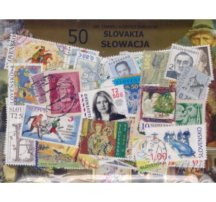 Znaczek Pakiet filatelistyczny SŁOWACJA 50 znaczków