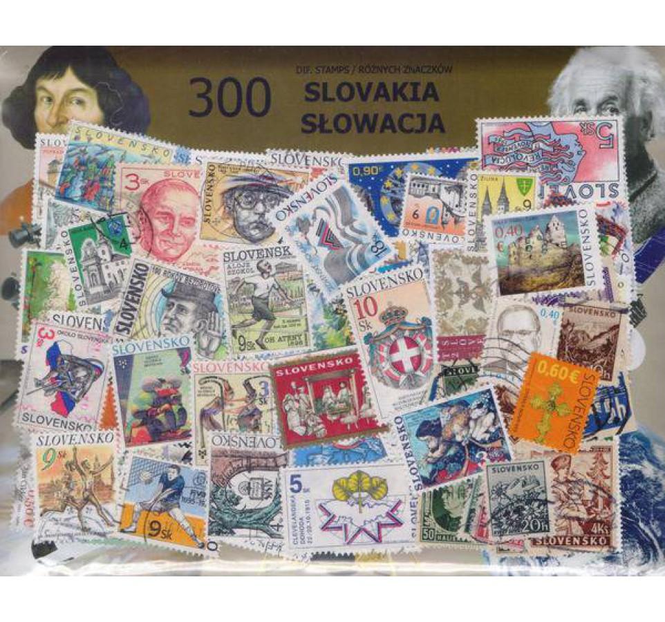 Pakiet filatelistyczny SŁOWACJA 300 znaczków