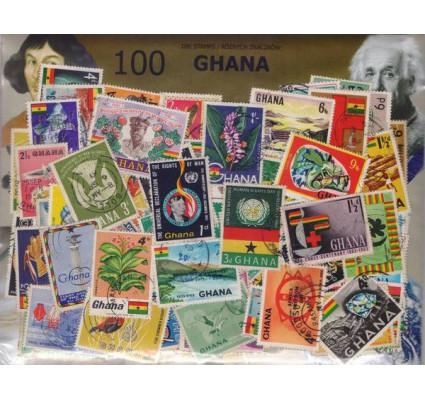 Znaczek Pakiet filatelistyczny GHANA 100 znaczków