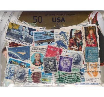 Znaczek Pakiet filatelistyczny USA 50 znaczków