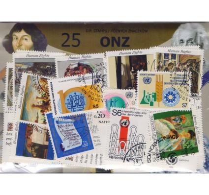 Znaczek Pakiet filatelistyczny ONZ 25 znaczków