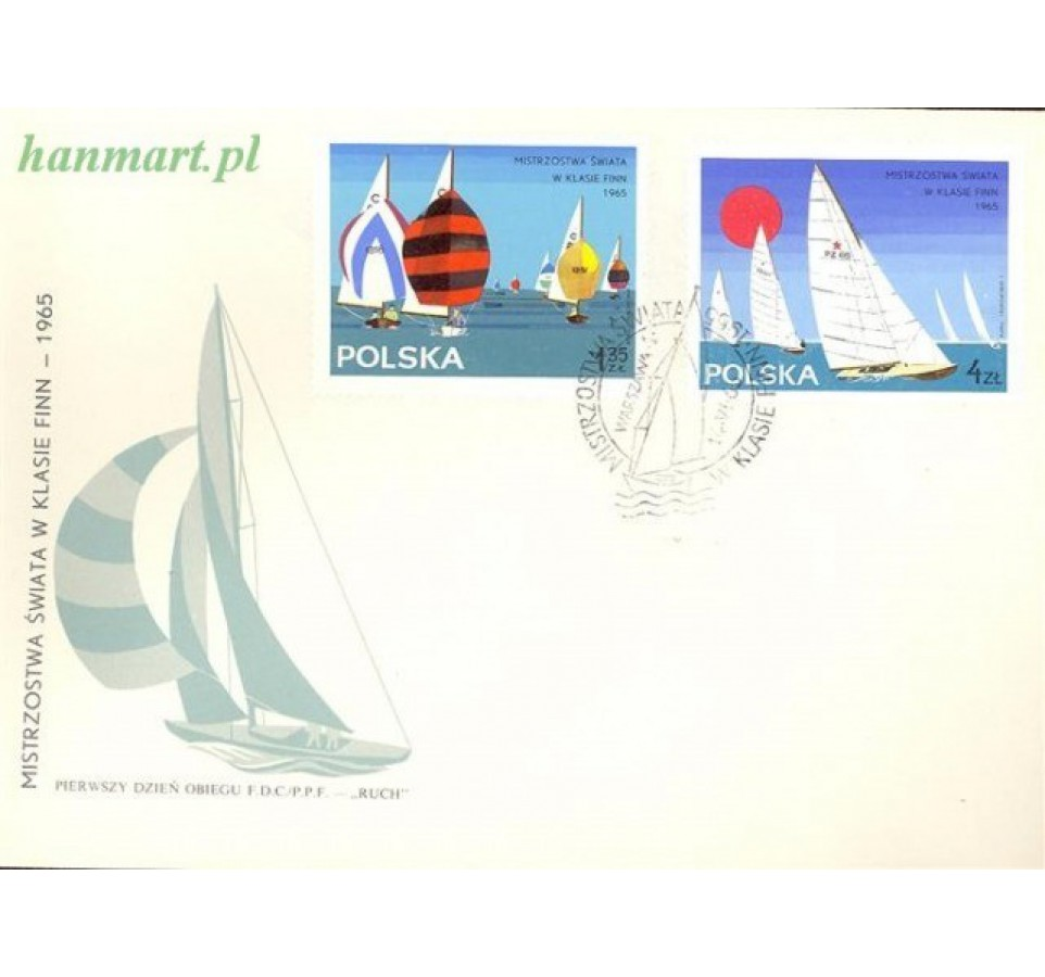 Polska 1965 Mi 1587-1594 Fi 1438-1445 FDC