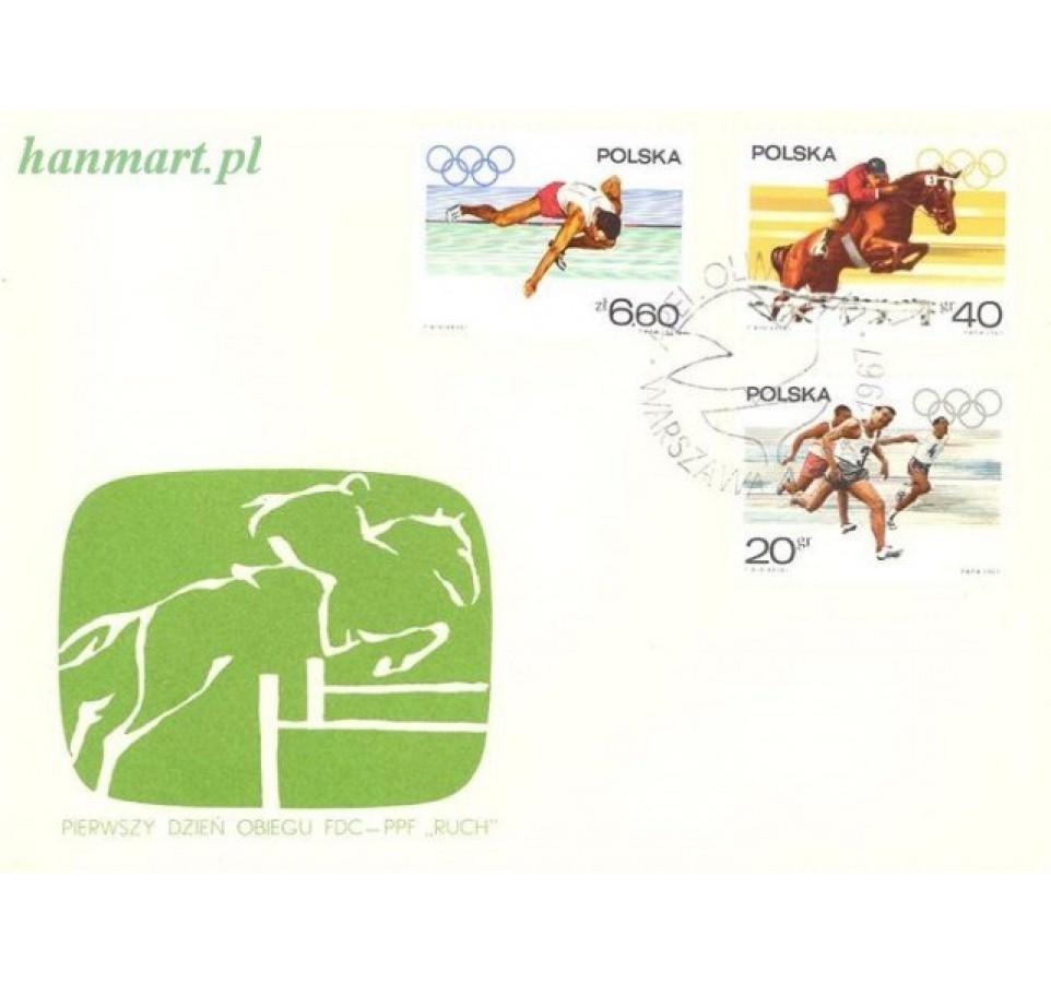 Polska 1967 Mi 1761-1768 Fi 1613-1620 FDC
