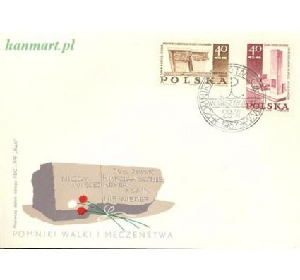 Znaczek Polska 1967 Mi 1818-1819 Fi 1671-1672 FDC