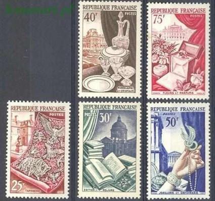 Znaczek Francja 1954 Mi 996-1000 Czyste **