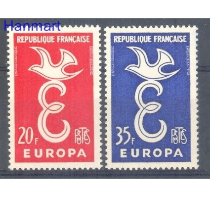 Znaczek Francja 1958 Mi 1210-1211 Czyste **