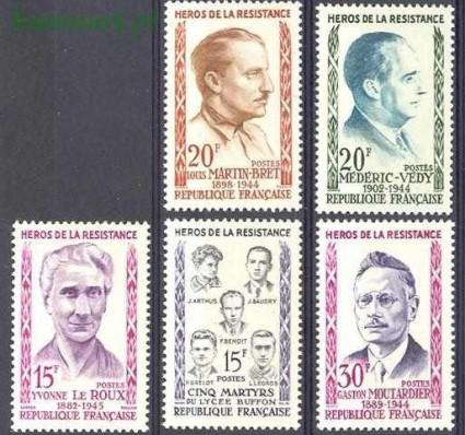 Znaczek Francja 1959 Mi 1242-1246 Czyste **