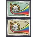 Narody Zjednoczone Genewa 1976 Mi 60-61 Czyste **