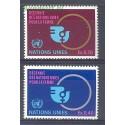 Narody Zjednoczone Genewa 1980 Mi 89-90 Czyste **